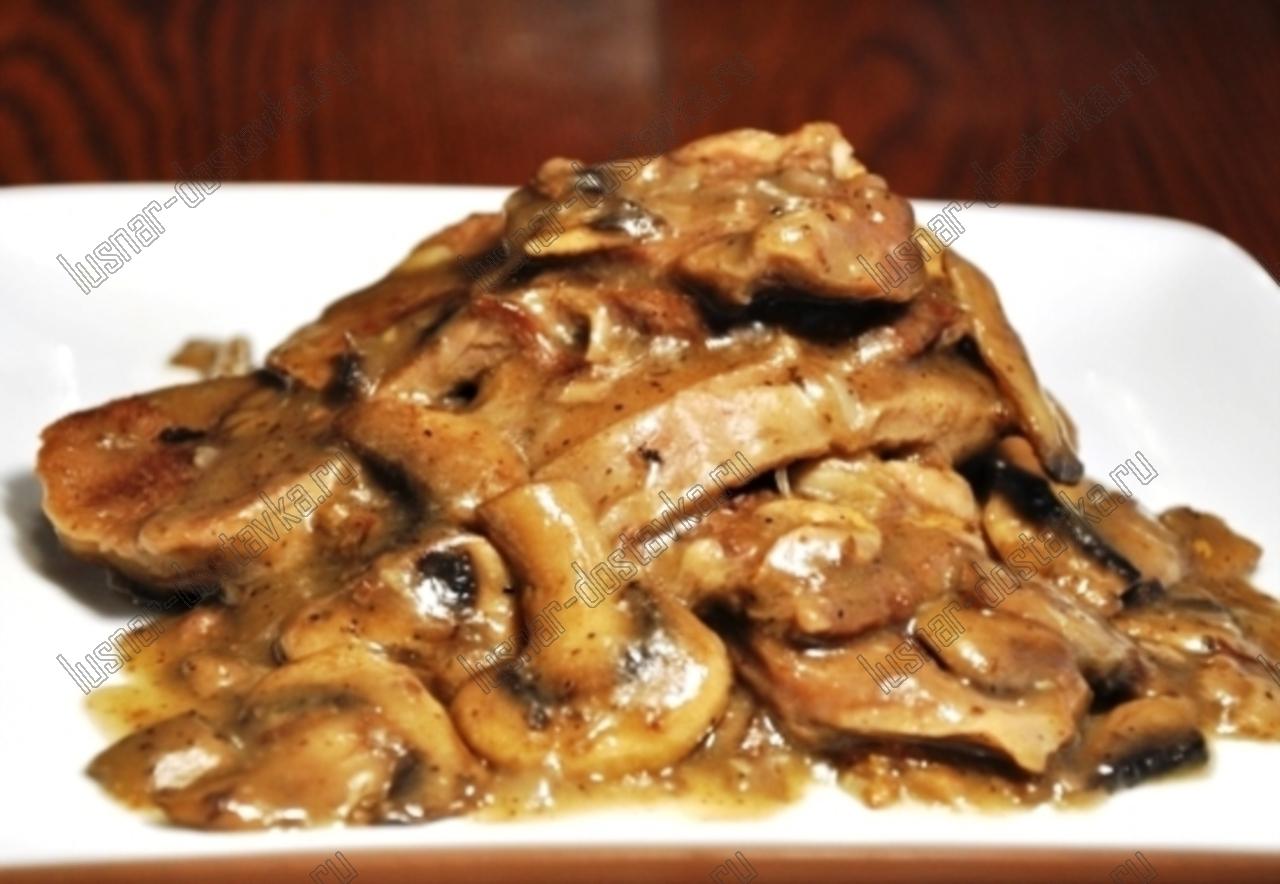 Язык говяжий грибами рецепт
